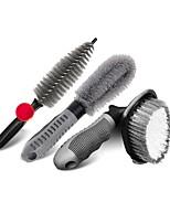 cheap -Car Tire Brush Wheel Hub Brush Car Wash Tool Cleaning Wheel  Rim Brush Powerful Decontamination Brush Set