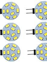 cheap -6pcs 2 W LED Bi-pin Lights 260 lm G4 9 LED Beads SMD 5730 Warm White Natural White White 9-30 V