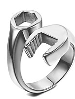 cheap -van unico stainless steel biker ring for men silver spanner mechanic wrench tool size 7-15(9)