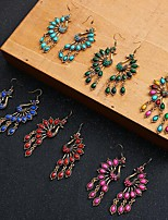cheap -Women's Turquoise Drop Earrings Vintage Earrings Jewelry Rainbow color / Blue / Red For Date Festival