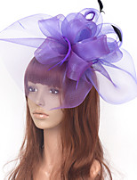 cheap -Elegant Hyperbole Tulle Fascinators with Rhinestone / Bowknot / Floral 1 Piece Special Occasion / Party / Evening Headpiece