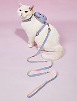 cheap -Dog Pets Harness Training Leash Harness Leash Set Breathable Adjustable Flexible Escape Proof Outdoor Walking Flower Nylon Corgi Beagle Bichon Frise Shih Tzu Poodle Chihuahua Yellow Blue Pink 1pc