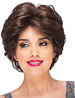 cheap -Synthetic Wig Curly Short Bob Wig Short Black / Brown Synthetic Hair Women's Party Fashion Comfy Black Brown