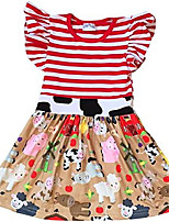 cheap -big girl kids stripe animal print easter party birthday girls dress red 8 3xl 317713