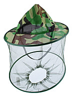 cheap -Outdoor Adventure Nature Explorer Hat Camouflage Beekeeping Fishing Hat Mosquito Net Caps Mesh Beekeeper Protective Cap Mask Outdoor Anti Bee Neck Veil Head Cover