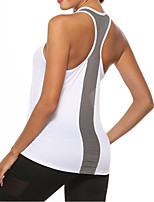 cheap -Women's Tank Top Tee / T-shirt Mesh Patchwork Strapped Neck Spandex Sport Athleisure Top Sleeveless Breathable Soft Comfortable Yoga Running Everyday Use Casual Daily Outdoor