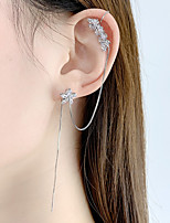 cheap -Women's Hoop Earrings Ear Cuff Tassel Fringe Vertical / Gold bar Vintage Classic Earrings Jewelry Silver For Wedding Party Daily 1 Pair