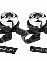 cheap -anderzs 2pcs bike bell bicycle bell (silver), bike bells for adults and kids, crisp loud melodious sound, mountain bike bell, road bike bell