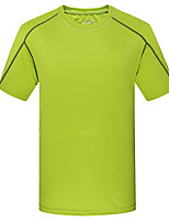 cheap -Men's T shirt Hiking Tee shirt Short Sleeve Crew Neck Tee Tshirt Top Outdoor Quick Dry Lightweight Breathable Soft Autumn / Fall Spring Summer POLY Army Green Orange Green