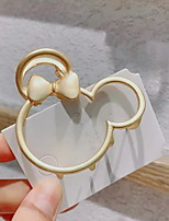 cheap -1pcs Kids / Toddler Girls' Sweet Daily Wear Rose Cartoon / Animal Hole Polyester Hair Accessories Gold / Silver One-Size