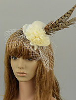 cheap -Ethnic Style Retro Tulle Fascinators with Feather / Floral 1 Piece Special Occasion / Party / Evening Headpiece
