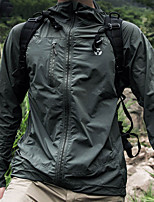cheap -Men's Hunting Jacket Outdoor Breathable Ventilation Ultraviolet Resistant Wearproof Fall Spring Summer Solid Colored Nylon Black Grey Green