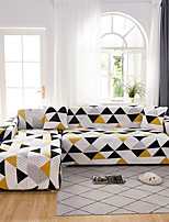 cheap -Sofa Cover The Geometric Black White Triangle Print Dustproof  Stretch Super Soft Fabric  (You will Get 1 Throw Pillow Case as free Gift)