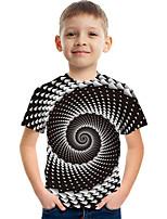 cheap -Kids Boys' Tee Short Sleeve Graphic 3D Children Tops Active Black