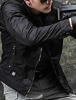 cheap -Men's Hiking Softshell Jacket Waterproof Hiking Jacket Hiking Windbreaker Autumn / Fall Spring Summer Outdoor Solid Color Waterproof Windproof Quick Dry Lightweight Jacket Hoodie Top Cotton Full