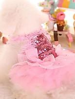 cheap -Pet Fashion Sweet Puppy Dog Bling Bling Printed Princess Skirt Pet Dog Lace Cake Camisole Tutu Dress