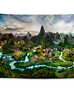 cheap -Wall Tapestry Art Decor Blanket Curtain Hanging Home Bedroom Living Room Decoration Polyester Landscape of Guilin Guangxi