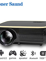 cheap -Poner Saund M8S Wifi Projector Full HD Native 1080P Projector 5000 Lumens Cinema Proyector Beamer Android WiFi HDMI Projector Auto Correction