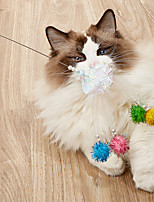 cheap -Teaser Feather Toy Interactive Toy Cat Toy Dog Cat 1pc Pet Exercise Releasing Pressure Nylon Gift Pet Toy Pet Play
