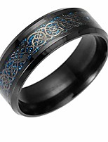 cheap -mersdw deal rings european and american fashion jewelry stainless steel golden dragon rings dragon ring set with silver gold dragon piece stainless steel rings jewelry (black, 6)