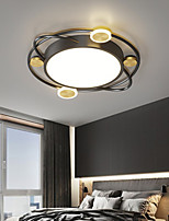 cheap -48/58 cm LED Ceiling Light Black Gold Geometric Shapes Flush Mount Lights Metal Artistic Style Stylish Painted Finishes Artistic LED 220-240V