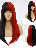 cheap -Synthetic Wig Straight Neat Bang Wig Medium Length A1 A2 A3 A4 Synthetic Hair Women's Cosplay Party Fashion Black Brown