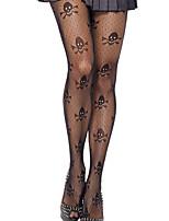 cheap -Women's Thin Pantyhose - Print Black One-Size
