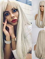 cheap -Synthetic Wig Natural Straight Neat Bang Wig Medium Length A10 A11 A12 A13 A14 Synthetic Hair Women's Cosplay Party Fashion Dark Gray White