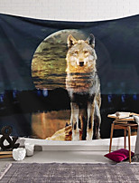 cheap -Wall Tapestry Art Decor Blanket Curtain Hanging Home Bedroom Living Room Wolf Modern  Animal