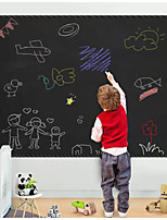 cheap -2PCS Removable PVC Blackboard Stickers Blackboard Wall Sticker Decoration for Kids Dedrooms Durable 45x100cm
