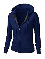 cheap -Women's Sporty Daily Cotton Coat Tops Pink