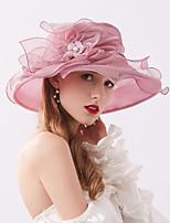 cheap -Vintage Style Elegant Organza / Polyester / Polyamide Hats / Headwear / Straw Hats with Faux Pearl / Appliques / Flower 1 Piece Casual / Holiday Headpiece
