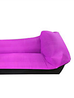 cheap -Color-blocking Pillow Type Lazy Inflatable Sofa Oxford Cloth Outdoor Portable Air Sofa Bed