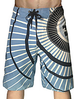 cheap -Men's Swim Shorts Swim Trunks Board Shorts Breathable Quick Dry Drawstring - Swimming Surfing Water Sports Stripes Summer