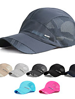 cheap -KORAMAN Men's Women's Fishing Hat Hiking Cap 1 set Outdoor Breathable Ventilation Sweat wicking Comfortable Solid Color Polyester Black Grey Dark Gray for Fishing Beach Camping / Hiking / Caving