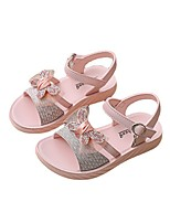 cheap -Girls' Sandals Princess Shoes PU Lace up Big Kids(7years +) Daily Walking Shoes Bowknot Pink Silver Spring / Booties / Ankle Boots