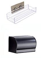 cheap -Tools Washable / Self-adhesive / Storage Modern Contemporary Mixed Material 2pcs Bath Organization