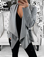 cheap -Women's Solid Colored Patchwork Active Fall & Winter Jacket Short Daily Long Sleeve Polyster Coat Tops Black