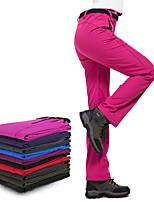 cheap -Women's Hiking Pants Trousers Solid Color Winter Outdoor Regular Fit Waterproof Windproof Fleece Lining Warm Bottoms Black Purple Dark Purple Burgundy Grey Fishing Climbing Camping / Hiking / Caving