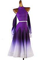 cheap -Ballroom Dance Dress Sashes / Ribbons Women's Training Performance Long Sleeve Chinlon Chiffon