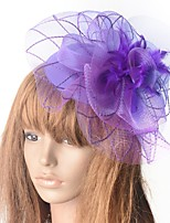 cheap -Hyperbole Vintage Inspired Tulle Fascinators with Feather / Floral 1 Piece Special Occasion / Party / Evening Headpiece