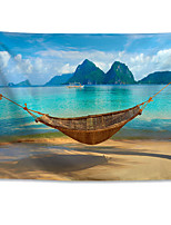 cheap -Wall Tapestry Art Decor Blanket Curtain Hanging Home Bedroom Living Room Polyester Vacation-Romantic Seaside Beach-Hammock