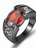 cheap -deals ruby rings, mersdw natural ruby black gold zircon ring party men's ring engagement women's birthstone rings engagement wedding rings jewelry gift (black, 6)