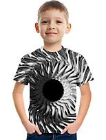 cheap -Kids Boys' Tee Short Sleeve Graphic 3D Children Tops Active Gray