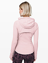cheap -Women's Solid Color Sporty Sporty Spring Hoodied Jacket Regular Daily Wear Spandex Coat Tops