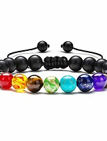 cheap -bozlun mens womens bracelet,8mm tiger eye lava rock stone bracelets essential oil diffuser bracelet braided rope natural stone yoga beads bracelet bangle gifts for men women(black matte)