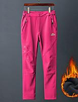 cheap -Women's Hiking Pants Trousers Solid Color Winter Outdoor Regular Fit Fleece Lining Warm Soft Wear Resistance Elastane Bottoms Black Rose Red Fishing Climbing Camping / Hiking / Caving M L XL XXL XXXL