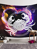 cheap -Wall Tapestry Art Decor Blanket Curtain Hanging Home Bedroom Living Room Colourful Polyester Crab