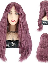 cheap -Synthetic Hair Wig Pink Color Wigs Party Cosplay Wigs Loose Deep Wave Wigs With Bangs For Black Women