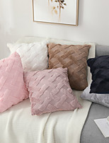 cheap -Double Side 1 Pc Solid Colored Cushion Cover  Print 45x45cm Linen for Sofa Bedroom